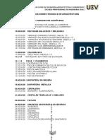 Especificaciones Tecnicas - Arquitectura Ucv
