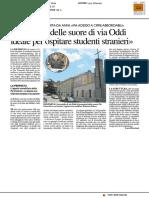 """""""L'edificio delle suore di via Oddi ideale per ospitare studenti stranieri"""" - Il Resto del Carlino del 6 luglio 2017"""