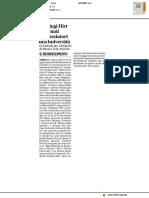 I coniugi Hirt nominati ambasciatori dell'università - Il Corriere Adriatico del 6 luglio 2017