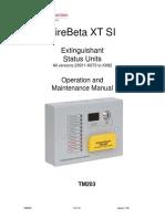 FireBeta XT SI Status Unit Operation & Maintenance Manual TM