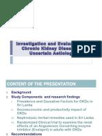 Investigation & Evaluation of CKDU-Final Report