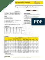 TABLA DE AMPERAJES FUSIBLES HH 24 KV