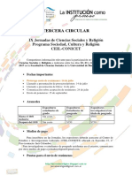 Tercera Circular IX JCSyR