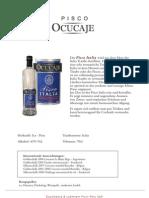 Produktblätter für Pisco Ocucaje
