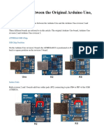 Differences Between the Original Arduino Uno