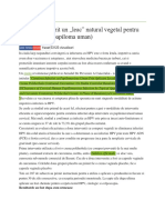 A fost descoperit un leac natural vegetal pentru HPV (virusul papiloma uman).docx