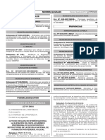 Ley que declara de interés nacional la elevación del nivel académico profesional de los docentes o instructores en la Escuela Nacional de Formación Profesional Policial