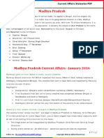 Mahdhya Pradesh Current Affairs 2016 (Jan-Dec) by AffairsCloud