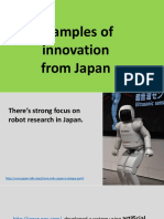 Examples of innovation from Japan.