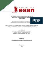 Lista de Cotejo Verificación Construcción Pei i.e ...