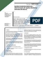 ABNT NBR 6869 - Líquidos Isolantes Elétricos - Determinação Da Rigidez Dielétrica - Eletrodos de Disco Dez 1989