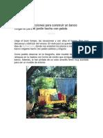 Planos e Instrucciones Para Construir Un Banco Colgante Para El Jardín Hecho Con Palets