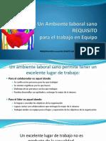 Ambiente Laboral Sano y Trabajo en Equipo 20170310 SRA ENID