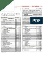 Psychiatric Nursing Knowledge and Skills Checklist
