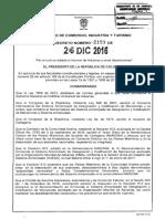 Decreto 2153 Del 26 de Diciembre de 2016