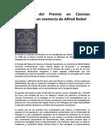Ganadores Del Premio en Ciencias Económicas en Memoria de Alfred Nobel