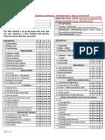 Medical-Surgical Nursing Knowledge & Skills Checklist