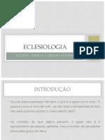 Eclesiologia (Aula 1)