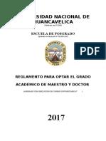 Reglamento Obtencion Grado Maestro y Doctor