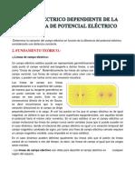 Campo Eléctrico Dependiente de La Diferencia de Potencial Eléctrico