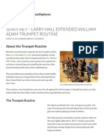 Jerry Hey & Larry Hall Extended Adam Routine for Trumpet