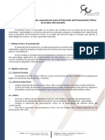 Propuesta Del Programa de Capacitación Para El Desarrollo Del Pensamiento Crítico en La Labor Del Docente