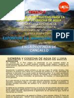 Exposición Siembra y Cosecha de Agua de Lluvia