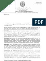 Manhattan Community Board 2 Resolution on St. Vincent's