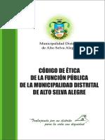 CÓDIGO de ÉTICA Municipalidad Asa
