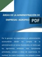 Areas de La Administracion de Empresas Agropecuarias