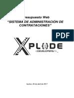 Xplode Developers Cotizacion - SIstema Flujo Contrataciones - Copia
