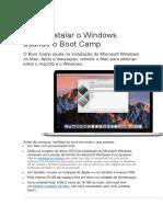 Como Instalar o Windows No MAC Usando o Boot Camp