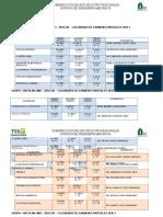 Calendario de Examen 2016
