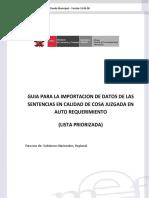 GUÍA PARA LA IMPORTACIÓN DE DATOS PARA EL SISTEMA DE SENTENCIAS JUDICIALES