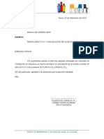 Carta Bcp Cancelacion Cta