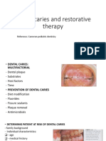 Dental Caries and Restorative Dentsitry [Autosaved]