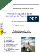 Análisis Comparativo de Las Alternativas de Pavimentación