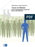 OECD Studies on Public Engagement Focus on Citizens - Public Engagement for Better Policy and Services