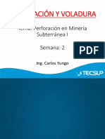 Semana 2_perforación en Minería Subterránea
