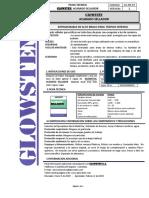 Glowsten, Acabado Sellador Ficha Tecnica
