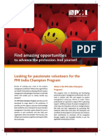 April - PMRC - 4160 - PMI - India Champion Program Flyer