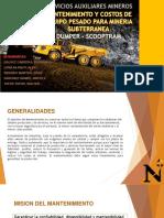 Manten y Cost Equipo Pesado Para Mineria Subterranea Ppt