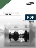 Samsung HLR-5668W Manual
