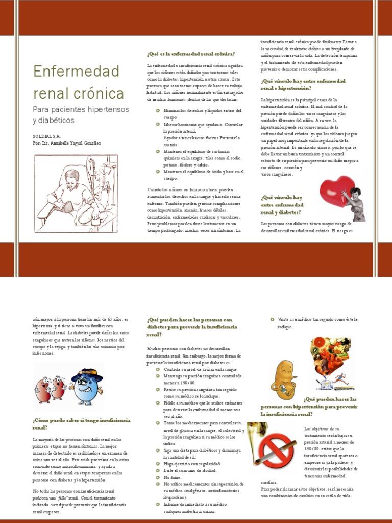 dieta para hipertensión e insuficiencia renal