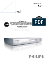 Philips DVDR615 Progressive Scan DVD Player Manual