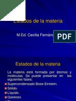 Estados de La Materia. Presentación