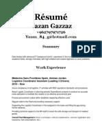 Résumé Yazan Gazzaz