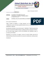 Oficio de Acta de Entrega de Terreno