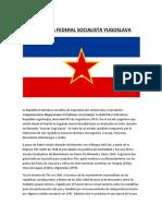 República Federal Socialista Yugoslava