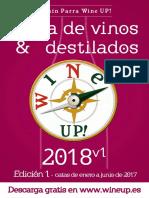 Guía de vinos y destilados WINE UP! 2018 V1. edición estival con vinos catados en el primer semestre de 2017